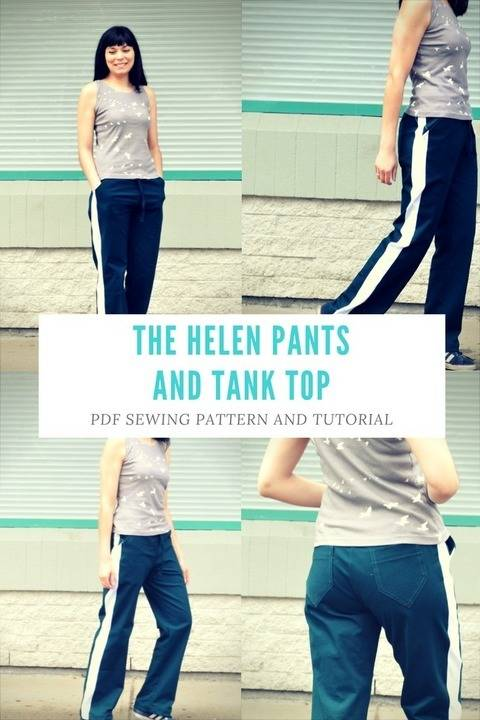 Helen Track pants and Sleeveless top at Makerist