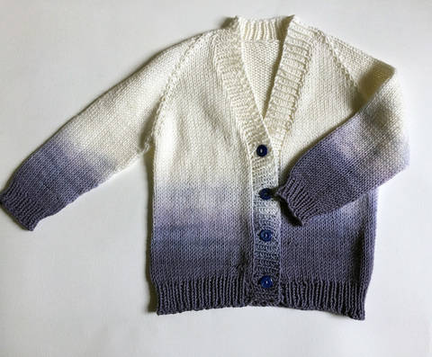 Ombre Baby Cardigan at Makerist