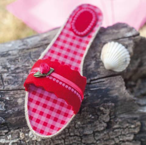 Espadrille-Sandalen im Romantik-Look Nähanleitung mit Schnittmuster bei Makerist