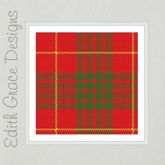 Cameron Tartan Square Embroidery Pattern at Makerist - Image 1