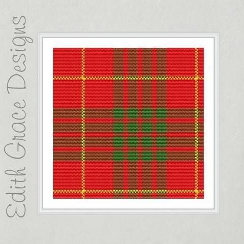 Cameron Tartan Square Embroidery Pattern