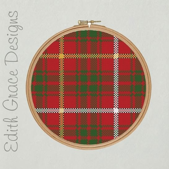 Bruce Tartan Embroidery Pattern at Makerist - Image 1
