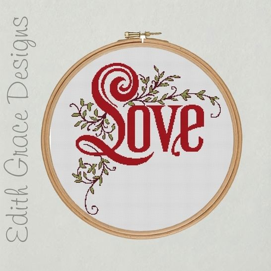Love Embroidery Pattern at Makerist - Image 1