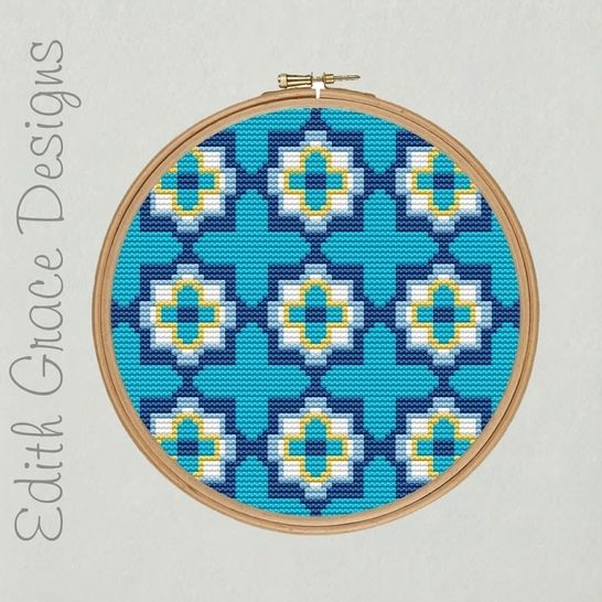 Portuguese Tile Embroidery Pattern at Makerist - Image 1