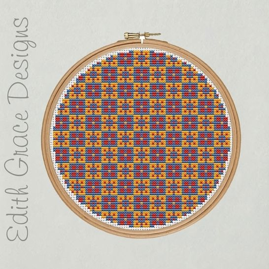 Geometric Folk Art Embroidery Pattern at Makerist - Image 1