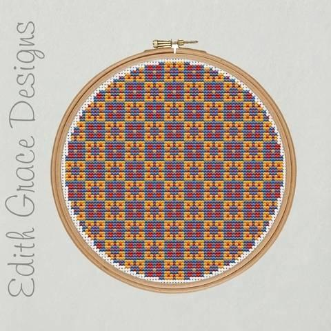 Geometric Folk Art Embroidery Pattern