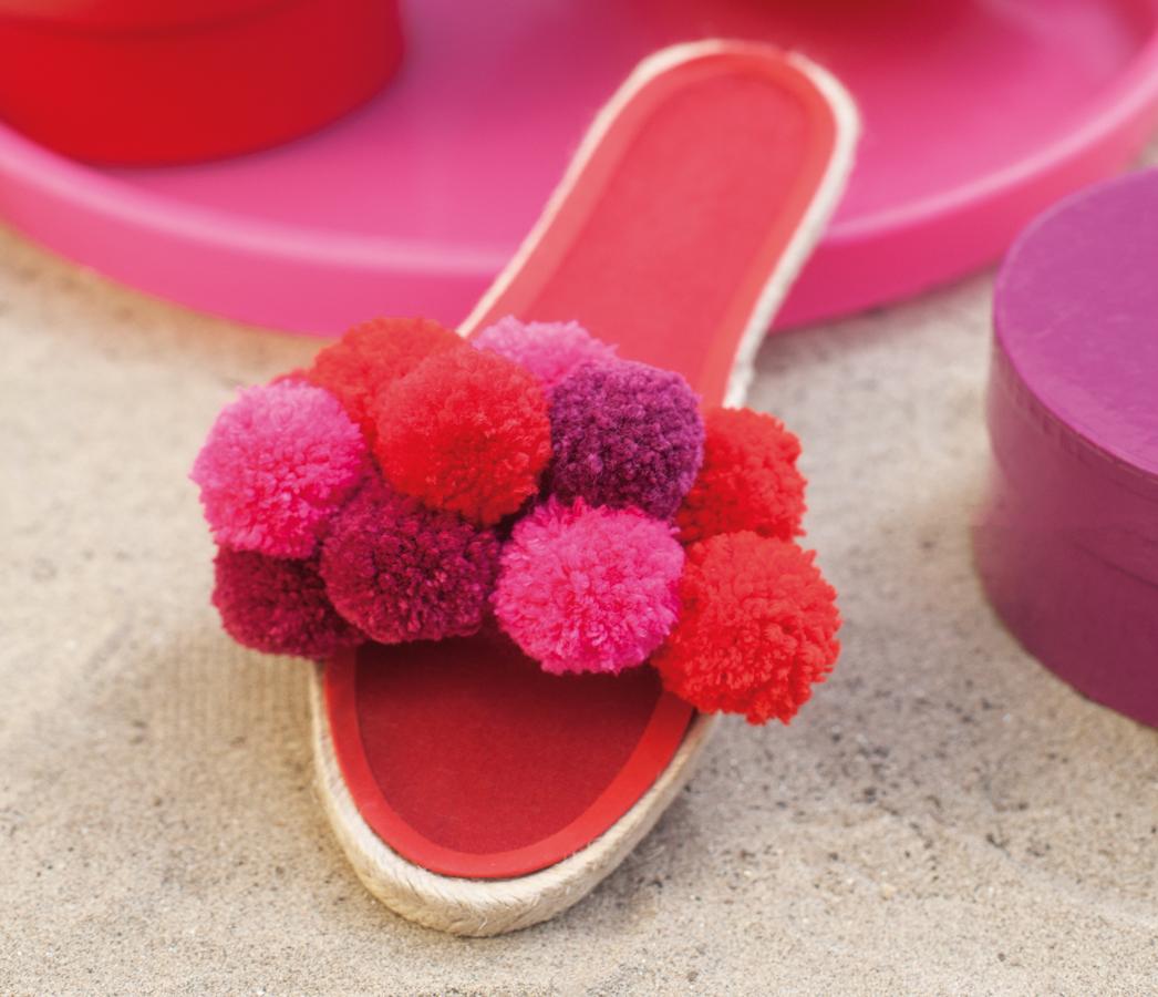 Espadrille-Sandalen mit Pompons Nähanleitung