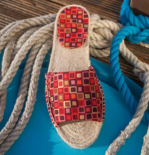 Gemusterte Espadrille-Sandalen Nähanleitung mit Schnittmuster bei Makerist