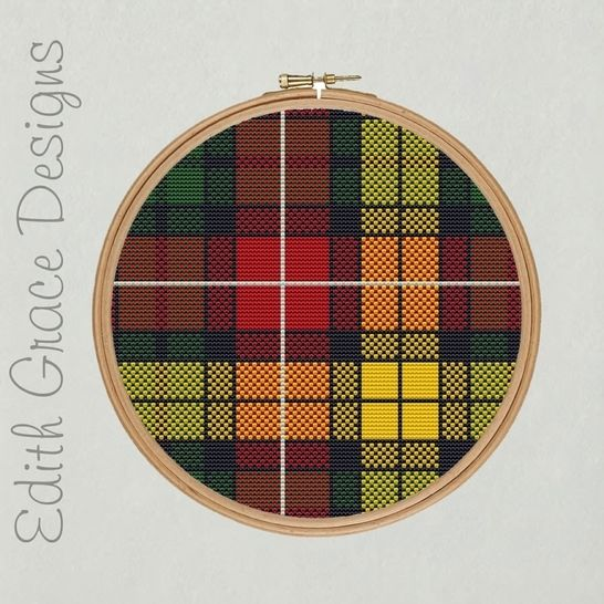 Buchanan Tartan Embroidery Pattern at Makerist - Image 1