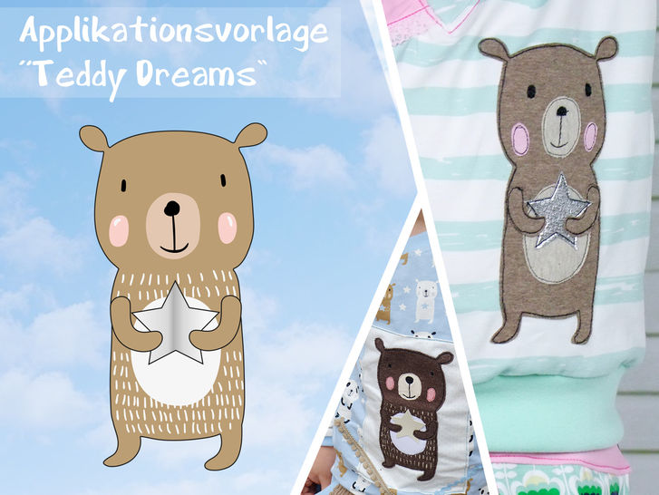 Applikationsvorlage Teddy Dreams bei Makerist - Bild 1