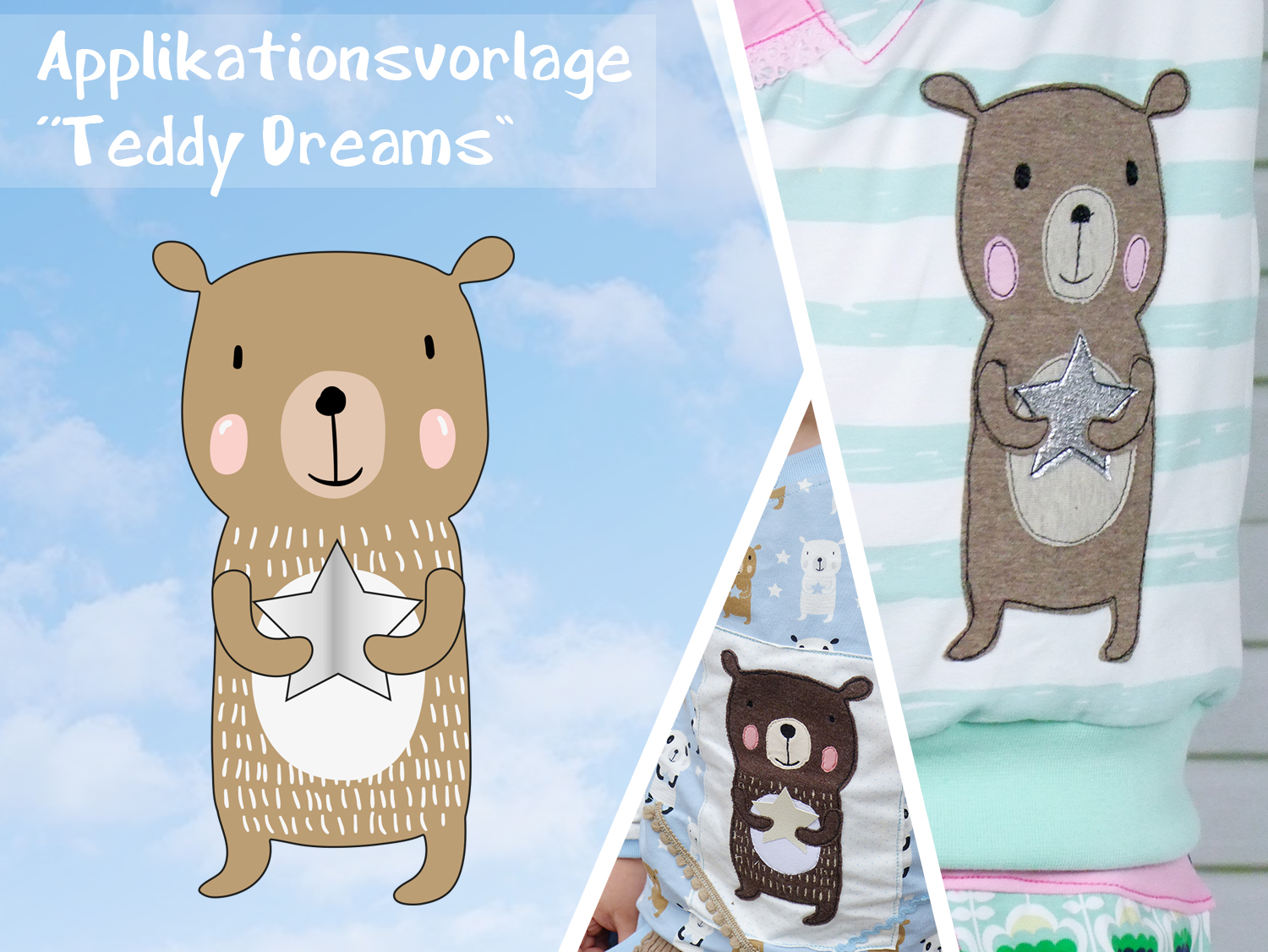 Applikationsvorlage Teddy Dreams