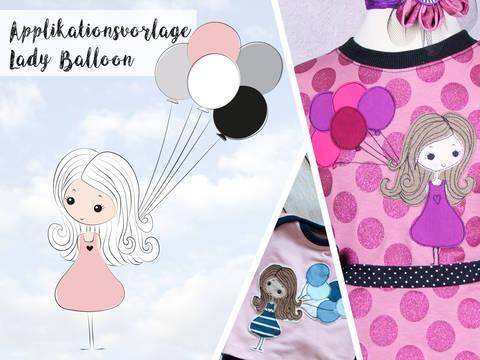 Applikationsvorlage Lady Balloon bei Makerist