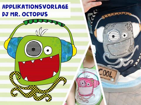 Applikationsvorlage DJ Mr. Octopus bei Makerist