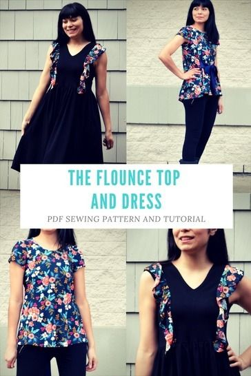 The Flounce Top and Dress PDF Sewing Pattern at Makerist - Image 1