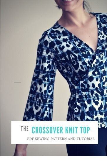 Crossover Top PDF Sewing Pattern and printable tutorial at Makerist - Image 1