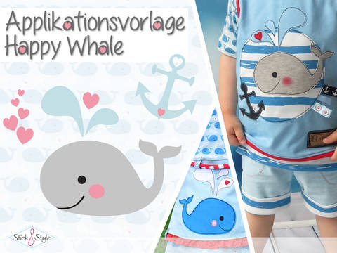 Applikationsvorlage Happy Whale bei Makerist
