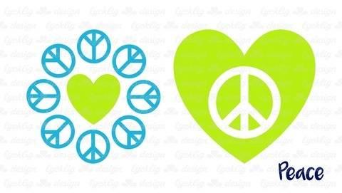 "Plotterdatei ""Call for Peace"" Peace Love Herz"