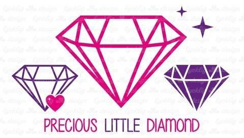 Plotterdatei Diamant mit Herz