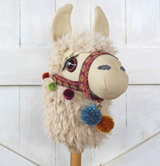 Llama Ride-On Toy Stick Horse Hobby Horse at Makerist - Image 1