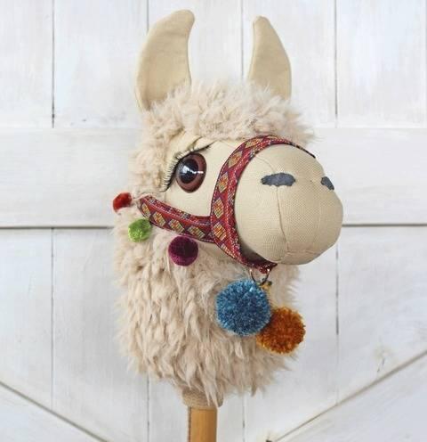 Llama Ride-On Toy Stick Horse Hobby Horse at Makerist