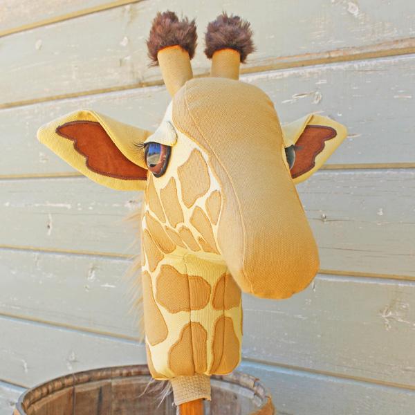 Giraffe Ride On Toy Plush Stick Horse Hobby Horse