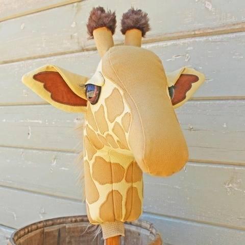 Giraffe Ride On Toy Plush Stick Horse Hobby Horse at Makerist