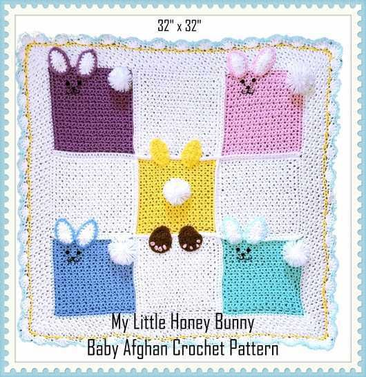 My Little Honey Bunny Baby Afghan Crochet Pattern at Makerist - Image 1
