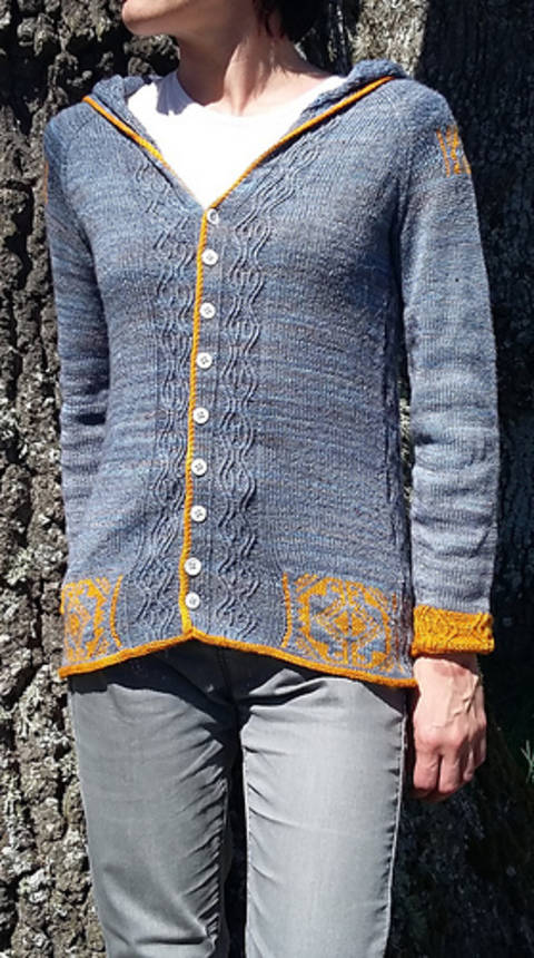 Breaking blue - gilet - modèle de tricot chez Makerist