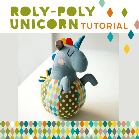 Roly-poly Unicorn for babies, plushie, cuddly toy - pattern and detailed sewing instructions at Makerist