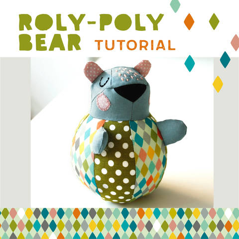 Roly-poly Bear for babies - pattern and sewing instructions