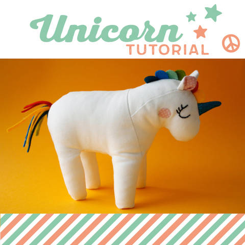 Unicorn plushie, cuddly toy - sewing instructions
