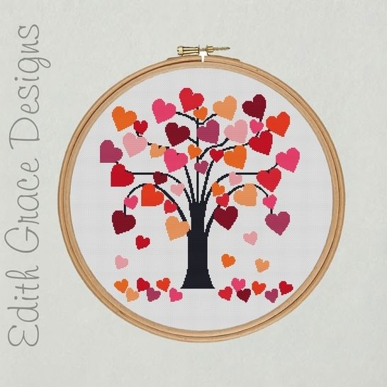 Love Heart Tree Embroidery Pattern at Makerist - Image 1