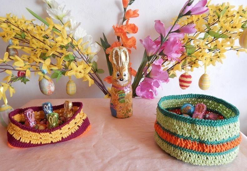 Häkelanleitung dekorative Osterkörbchen bei Makerist - Bild 1