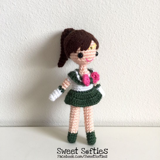 Sailor Jupiter Doll - Amigurumi Crochet Japanese Anime Manga Sailor Moon Plushie Plush School Girl Outfit Otaku Fan Geeky Nerdy Gift at Makerist - Image 1