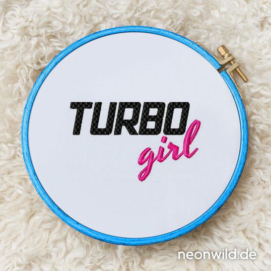 """Stickdatei """"TURBO girl""""  -  3 Größen bei Makerist - Bild 1"""