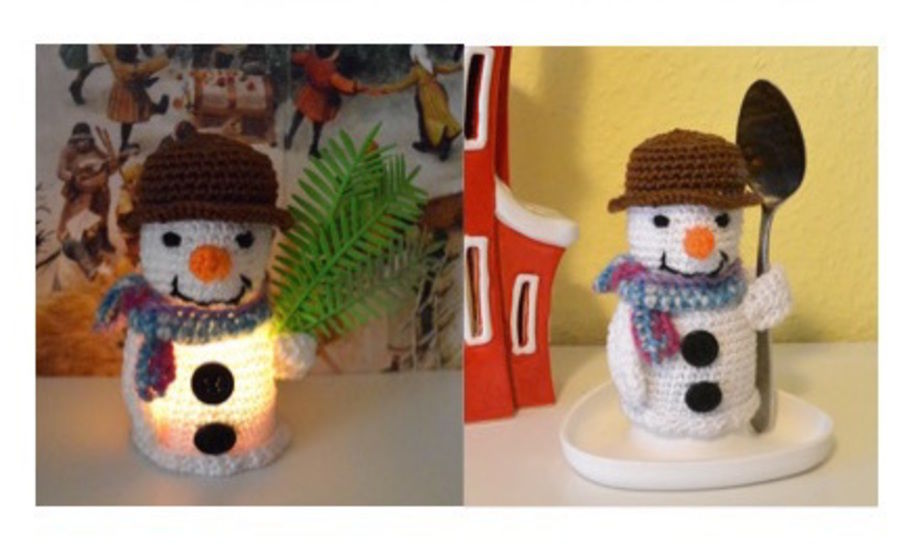 "E-Book ""2 in 1 snowman""... egg cosy or lighted at Makerist - Image 1"