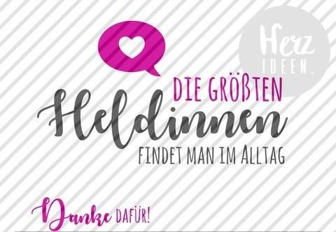 """Plotterdatei """"Heldinnen"""" DXF PNG SVG - Herzideen"""