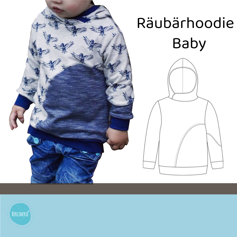 Ebook Räubärhoodie Baby Gr. 62-92