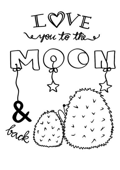 Plotterdatei Love you to the moon Freebie bei Makerist - Bild 1