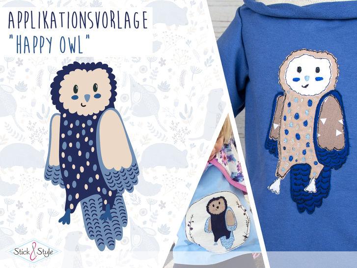 Applikationsvorlage Happy Owl bei Makerist - Bild 1