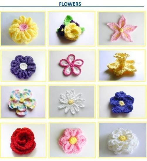 10 Flowers and 3 Head Bands Crochet Pattern - Baby to Women's XL # 132 at Makerist - Image 1