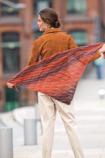 Dreieckstuch in warmen Tönen bei Makerist - Bild 1