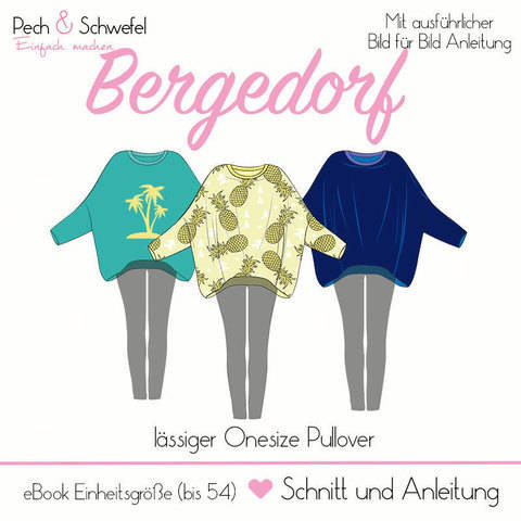 """Schnittmuster Onesize Pullover """"Bergedorf in A4 und A0"""