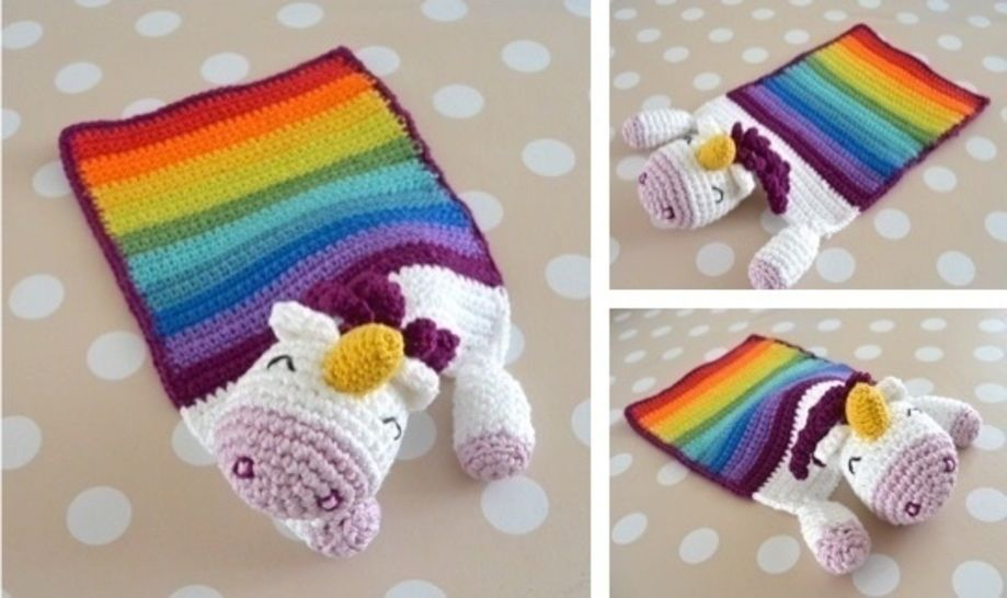 "E-Book: ""Snuggle Blanket Unicorn"" at Makerist - Image 1"