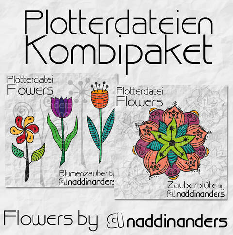 Plotterdatei Flowers Kombipaket bei Makerist