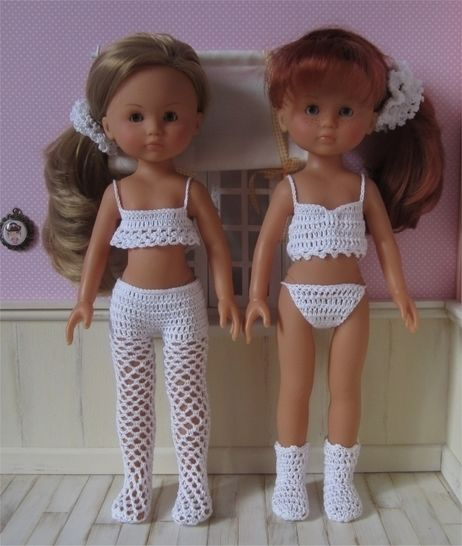 Lingerie: two crochet outfits for 32-33cm dolls at Makerist - Image 1