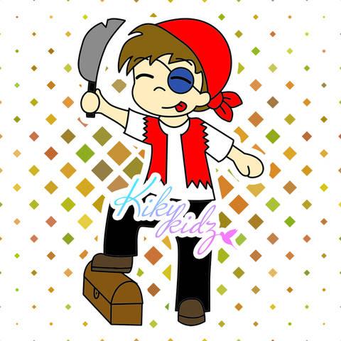 Kidz, der Pirat - Applikationsvorlage - Kikykidz bei Makerist