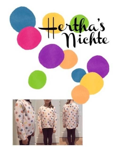 Hertha's Nichte – das Wohlfühl-Shirt für Kinder Nähanleitung und Schnittmuster