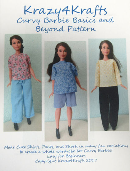 Barbie Curvy Doll Basics and Beyond PDF Sewing Pattern at Makerist - Image 1