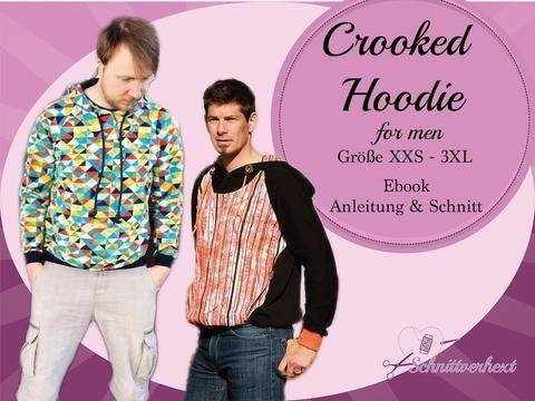 Crooked Hoodie for men inkl. Plotterdatei + Kragenerweiterung bei Makerist
